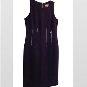 Michael Kors eggplant purple zipper midi dress 💜